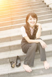 Geschäftsfraurest Lizenzfreies Stockbild