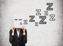 Geschäftsfrauschlaf Stockfoto
