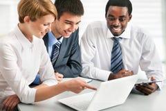Geschäftsgruppesitzungsporträt Stockbild