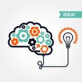 Geschäftsidee oder Erfindungsikone Stockbild