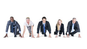 Geschäftsleute bereit zu beginnen Lizenzfreie Stockfotografie