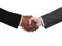 Geschäftsleute, die eachother grüßen Lizenzfreies Stockbild
