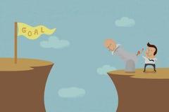 Geschäftsleute, die hohes Ziel anstreben Lizenzfreie Stockbilder