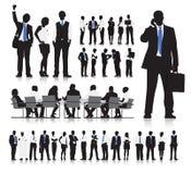 Geschäftsleute, die Vektor treffen Stockbilder