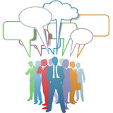 Geschäftsleute Farbenkommunikationssprache-Luftblase Stockfotografie