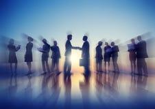 Geschäftsleute New York Sitzungs-Konzept-im Freien Stockfotos