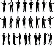 Geschäftsleute silhouettieren Superset Stockfoto