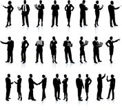 Geschäftsleute silhouettieren Superset Lizenzfreies Stockfoto