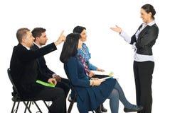 Geschäftsleute Wissen am Seminar Stockfoto