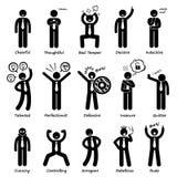 Geschäftsmann Attitude Personalities Characters Cliparts Lizenzfreie Stockfotos