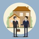 Geschäftsmann Buying ein Haus Stockfoto