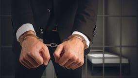 Geschäftsmann festgenommen Stockbild