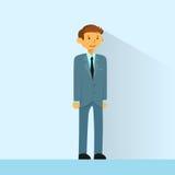 Geschäftsmann-Full Length Business-Mann flach Lizenzfreie Stockbilder