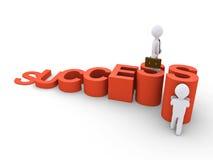 Geschäftsmann hilft anderen, um die Spitze zu erreichen Stockbild