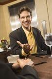 Geschäftsmann im Gespräch. Stockfotos