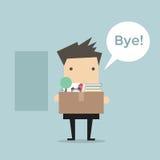 Geschäftsmann-Leaving Job-Vektor Stockfoto