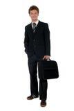 Geschäftsmann mit Aktenkoffer Stockbild