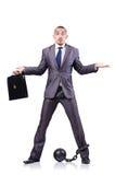 Geschäftsmann mit Fesseln Stockbilder