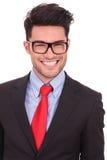 Geschäftsmann mit großem Lächeln Stockfotos