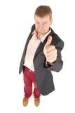 Geschäftsmann mit lustiger Ansicht Stockbilder