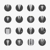 Geschäftsmann Suit Icons mit weißem Hintergrund Lizenzfreie Stockbilder