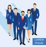 Geschäftsmann- und Frauenschattenbild Teamgeschäftsleute Gruppengriffdokumenten-Ordner Lizenzfreies Stockfoto