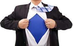 Geschäftsmann und Supermann Lizenzfreie Stockfotos