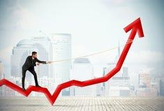 Geschäftsmann und Unternehmensgewinn Stockbild