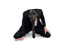 Geschäftsmannausfall setzen sich hin Stockbilder
