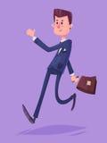 Geschäftsmanncharakter des zweifelhaften Geschäfts Vektor Lizenzfreies Stockfoto