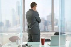 Geschäftsmanndenken Stockbild
