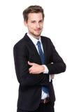 Geschäftsmannlächeln Lizenzfreie Stockbilder