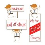 Geschäftsmannshow Verkaufsheraus Zeichenset Lizenzfreie Stockfotografie