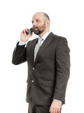 Geschäftsmanntelefon Stockfotos