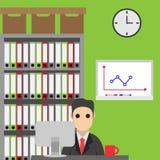 Geschäftsmannzeichentrickfilm-figur Von Hand gezeichnet Lizenzfreie Stockbilder
