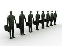 Geschäftsmänner in der Zeile Stockfotos