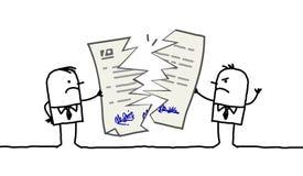 Geschäftsmänner u. unterbrochener Vertrag Lizenzfreie Stockfotos
