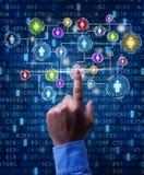 Geschäftsnetz im digitalen Zeitalter Lizenzfreie Stockfotografie