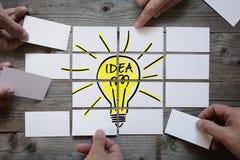 Geschäftsteam, das eine Lösung findet Stockfoto