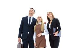 Geschäftsteam, das zur Spitze schaut Lizenzfreie Stockfotos