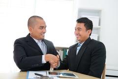 Geschäftsvereinbarung Stockbild