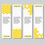 Geschäftszahlfahnen Schablone des modernen Designs des Bienenstocks oder Websiteplan Information-Grafiken Vektor Stockbilder