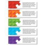 Geschäftszahlfahnen Schablone des modernen Designs oder Websiteplan Information-Grafiken Vektor Stockfotos