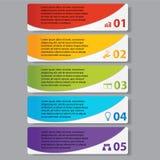 Geschäftszahlfahnen Schablone des modernen Designs oder Websiteplan Information-Grafiken Vektor Lizenzfreies Stockfoto
