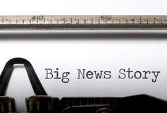 Geschichte der guten Nachrichten Lizenzfreie Stockfotos