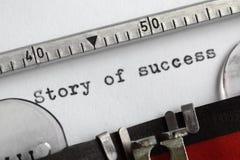 Geschichte des Erfolgs Lizenzfreie Stockfotos