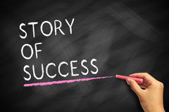 Geschichte des Erfolgs Stockfotografie