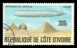 Geschichte des Zeppelins lizenzfreie stockbilder