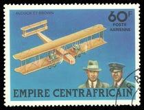 Geschichte von Luftfahrt stockfoto