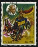 Geschichte von Rom und von Porträt von Theodor Mommsen durch Medina Lizenzfreies Stockfoto